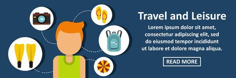 Travel and leisure banner horizontal concept Stock Photos