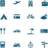 Travel, leisure and tourism icon set . Stock Photo