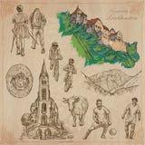 Travel, LIECHTENSTEIN - An hand drawn vector pack Royalty Free Stock Photo