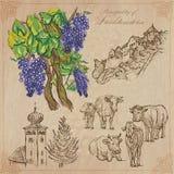 Travel, LIECHTENSTEIN - An hand drawn vector pack Stock Photo