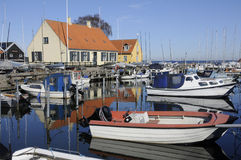 TRAVEL LIFE AT DRAGOR SMALL FISHING HABOUR Stock Photo