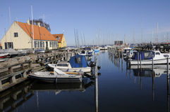TRAVEL LIFE AT DRAGOR SMALL FISHING HABOUR Stock Images