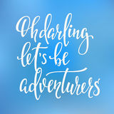 Travel life inspiration quotes lettering Stock Photography