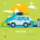 Travel Lifestyle Concept of Planning a Summer Royalty Free Stock Photo