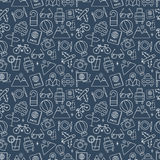 Travel line icon pattern set Royalty Free Stock Photos