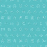 Travel line icon pattern set Stock Image