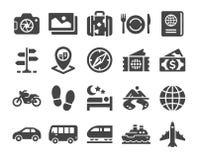 Travel line icon set. Travel thin line icon set vector and illustration stock illustration