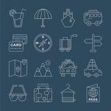 Travel line icon set. Vector illustration file vector illustration