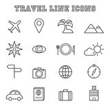 Travel line icons Royalty Free Stock Images