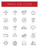 Travel line icons Stock Images