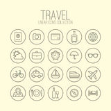Travel Linear Icons Royalty Free Stock Photos