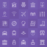 Travel linear icons set Stock Photography