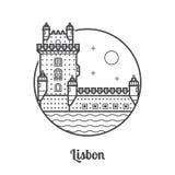 Travel Lisbon Icon Royalty Free Stock Photos