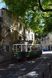 Travel in Lisbon. Tram transportation, city, cityscape, vintage, transport, Portugal royalty free stock images