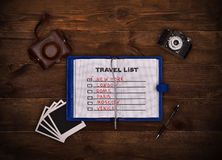 Travel list Royalty Free Stock Photography