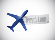 Travel loan paper illustration design Royalty Free Stock Image