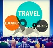 Travel Location Booking Destination Trip Adventure Concept Stock Image