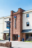 Travel Lodge. A Travel Lodge in the seaside resort of Paignton, Devon, England stock photography