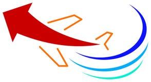 Travel logo. Isolated line art travel logo design Royalty Free Stock Photos