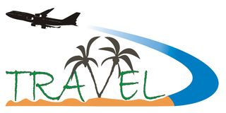 Travel logo 2 Royalty Free Stock Photography