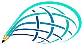 Travel logo royalty free illustration