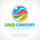 Travel logo Color vector illustration Stock Photo