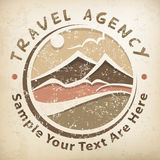 Travel logo grunge Royalty Free Stock Photos