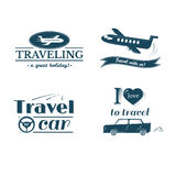 Travel logo and label set, typography design Royalty Free Stock Image