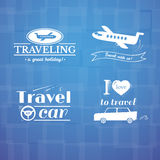Travel logo and label set, typography design Royalty Free Stock Photography