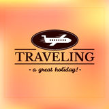 Travel logo, label typography design Royalty Free Stock Images