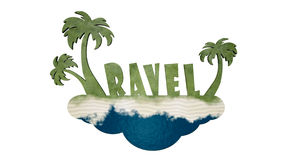 Travel logo Royalty Free Stock Images