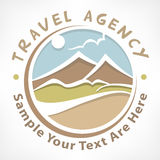 Travel logo pastel Royalty Free Stock Photos