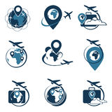 Travel logo set royalty free illustration