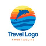 Travel Logo Template Stock Photography