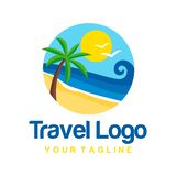 Travel Logo Template Royalty Free Stock Images