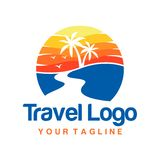 Travel Logo Template Stock Image