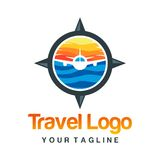Travel Logo Template Royalty Free Stock Photo