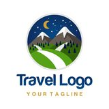 Travel Logo Template Stock Photo
