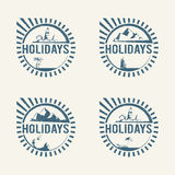 Travel logos Stock Photography