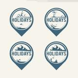 Travel logos Royalty Free Stock Image
