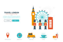 Travel London Concept Royalty Free Stock Photography
