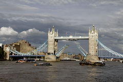 Travel London: lifted Tower bridge Royalty Free Stock Image