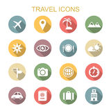 Travel long shadow icons Stock Photos