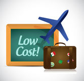 travel low cost concept illustration design Stock Images