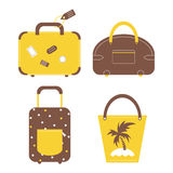 Travel luggage bags and cases collection. Stock Photo