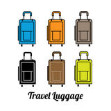 Travel luggage color. Simple travel luggage color, traveling bag icon logo concept Royalty Free Stock Image