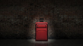 Travel luggage packed at home ready to go Royalty Free Stock Image