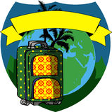 Travel luggage sticker Royalty Free Stock Photos