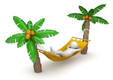 Travel - Lying in hammock Royalty Free Stock Photos