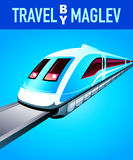 Travel by maglev train Royalty Free Stock Photos